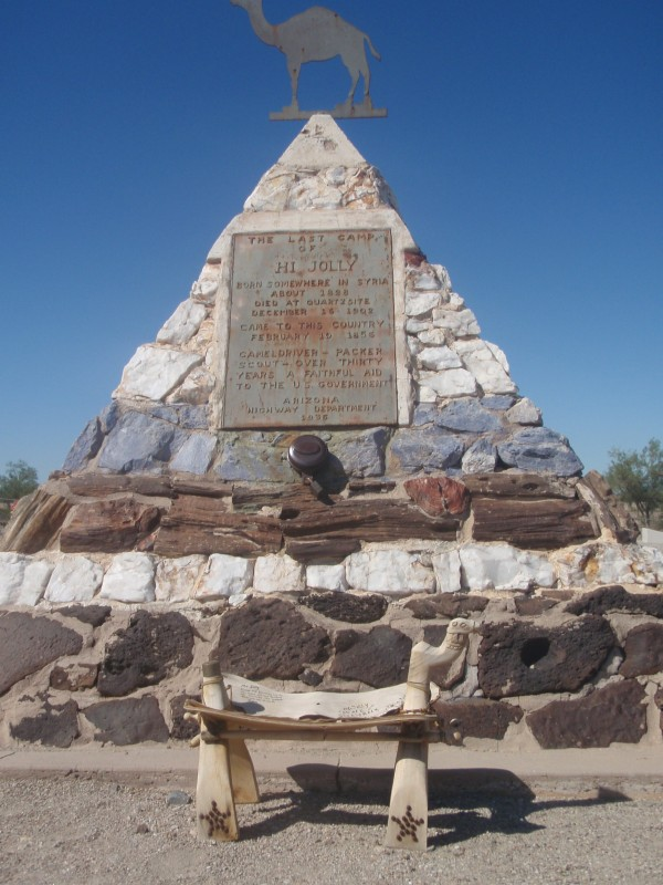 Hi Jolly Monument in Quartzsite, Arizona