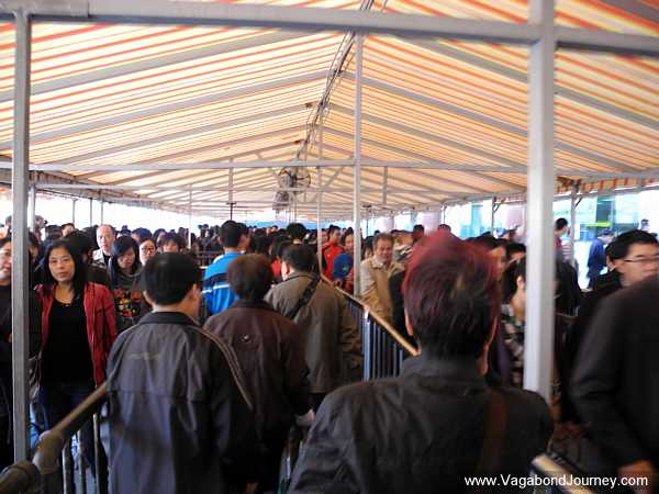 long line in China