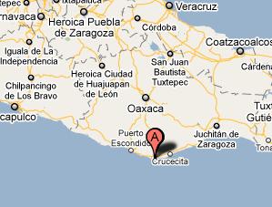 map oaxaca beaches