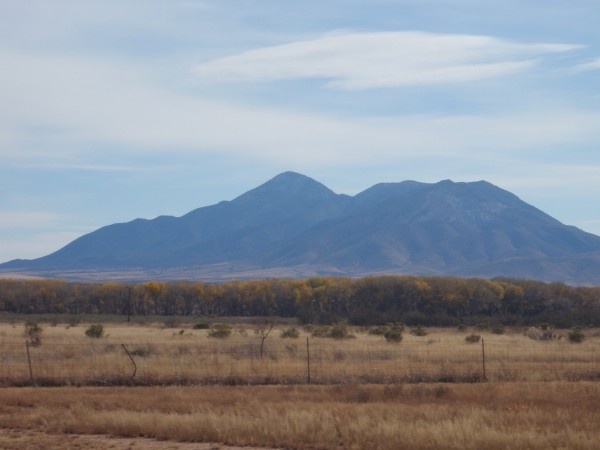 Mountains on the Arizona border