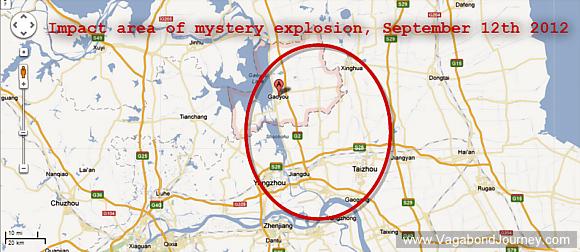 explosion Jiangsu province