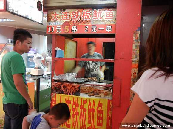 octopus street food stand