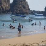 People Swimming Beach