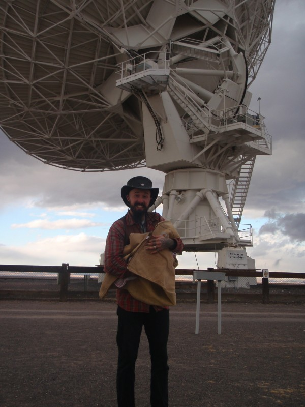 Wade and Petra at the VLA in New Mexico