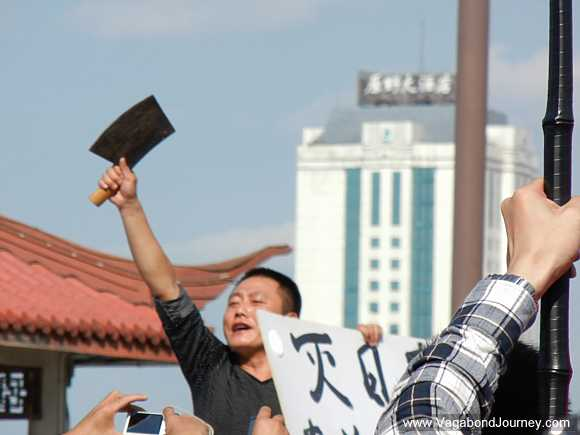 Protester against Japan in China