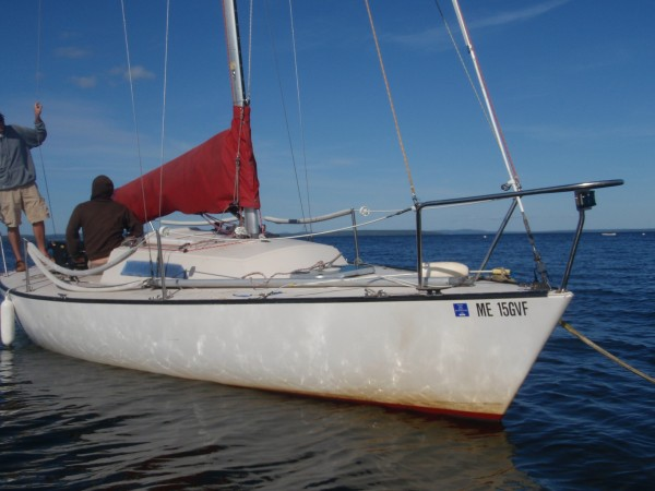 Racing Sailboat in Penopscot Bay