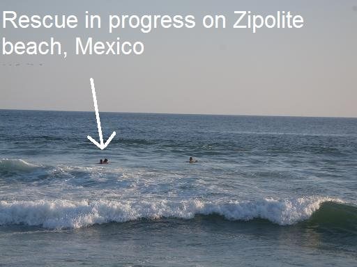 Woman Being Rescued By Liuards In Zipolite