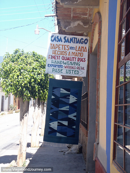 Rug shop in Teotitlan