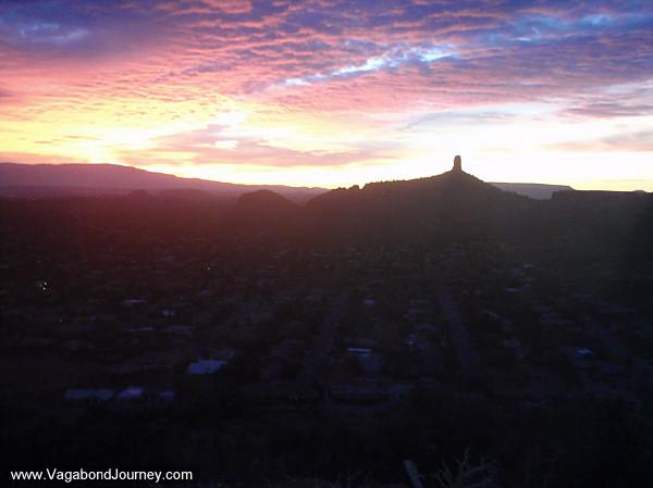 Colorful dusk sky of Sedona Arizona