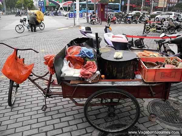 Street Food Kitchen on Bike Cart in China post image