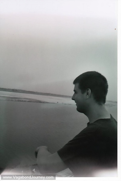 Stubbs looking out on the Ganges River in Varanasi