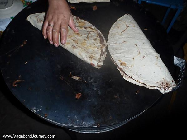 Tlayudas, Mexican food