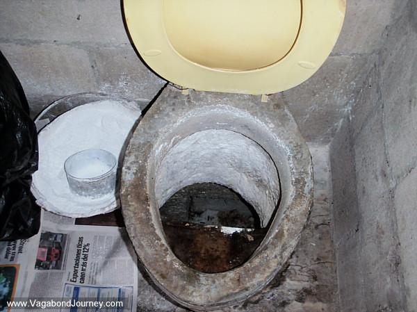 Toilet in countryside of El Salvador