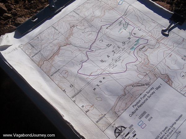 Tonto Forest topography map