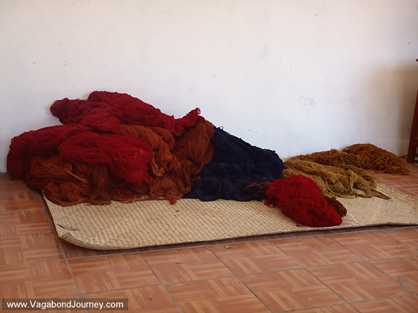 Rugs Yarn And Tapestries In Teotitlan Oaxaca