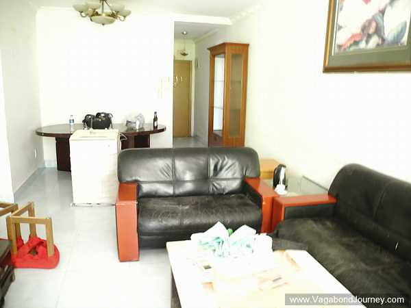 Living room of apartment