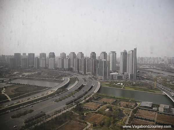 View of Zhengdong CBD from the Novetel tower