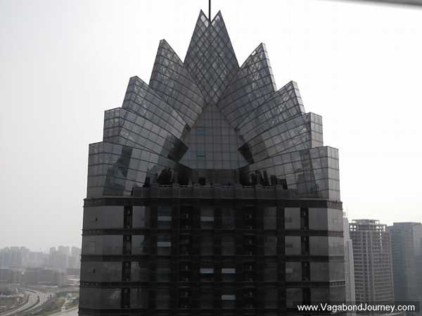 Novetel tower. This is a shot of Zhengdong that 60 Minutes made famous.